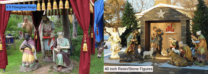 Fiberglass versus Resin/Stone mix for Outdoor Figures