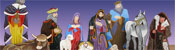 View: Life Size 2D Wood Nativity Display