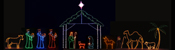 View: Huge Nativity Light Display 7 ft. scale