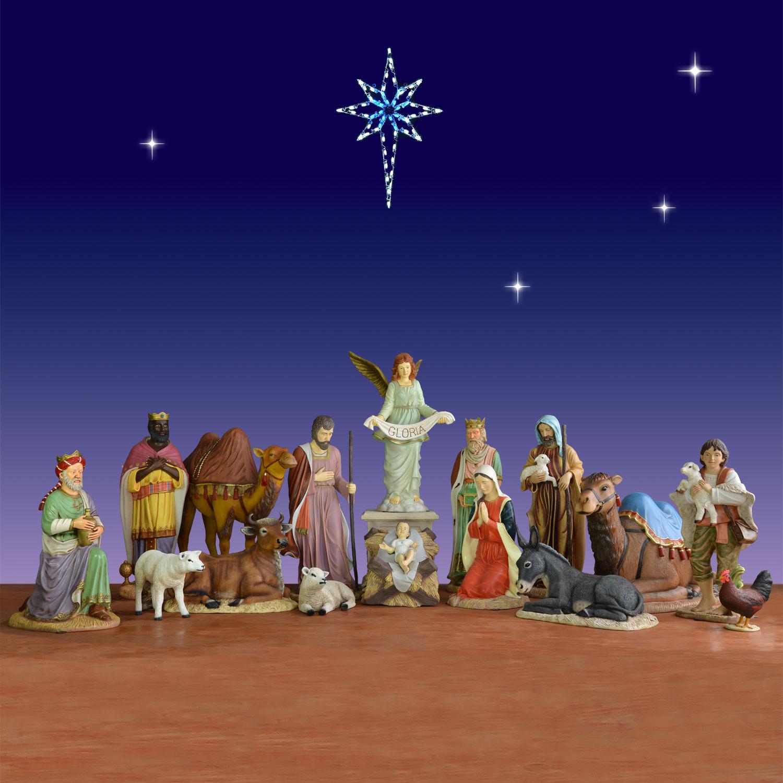 Outdoor 16 Piece Nativity Set Christmasnightinc Com