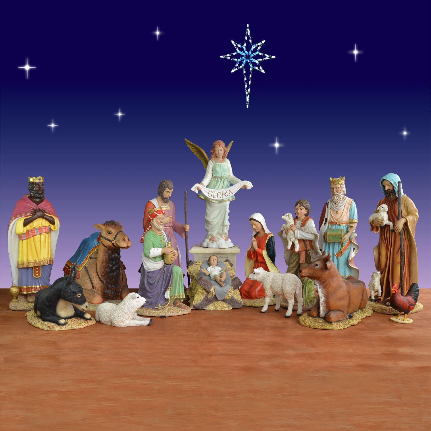 nativity set - Outdoor Christmas Decorations Nativity Scene