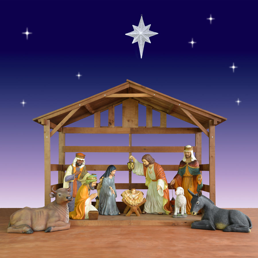 Holiday nativity scenes and sets christmas night inc outdoor nativity mozeypictures Choice Image