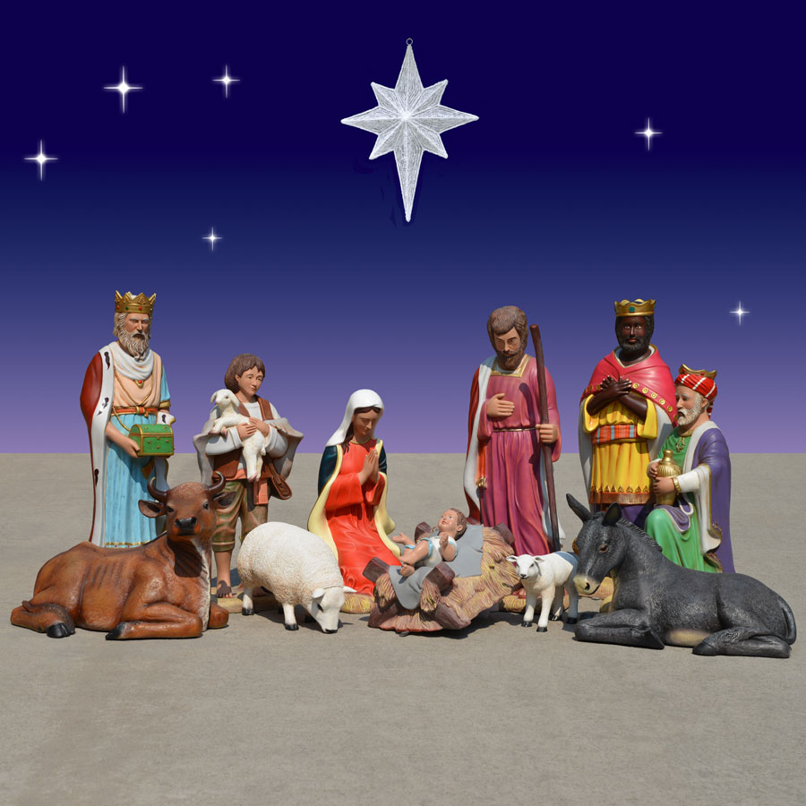 Christmas Nativity.Christmas Nativity 40 Inch Scale 11 Piece