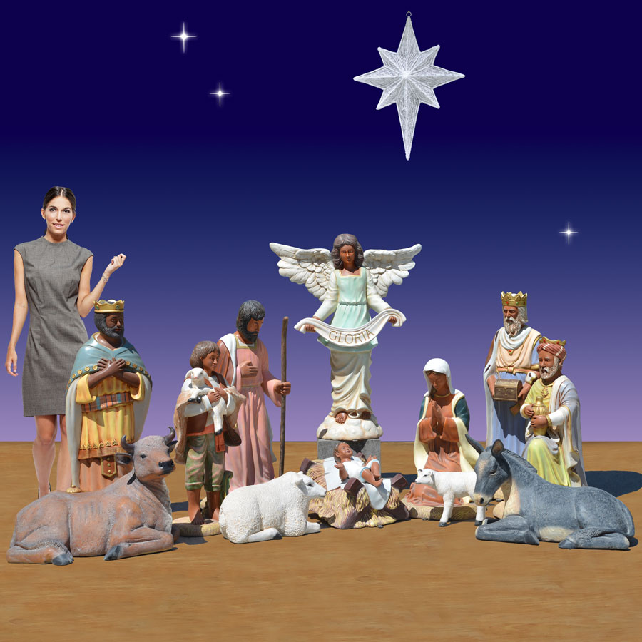 40 inch 11 piece nativity scene