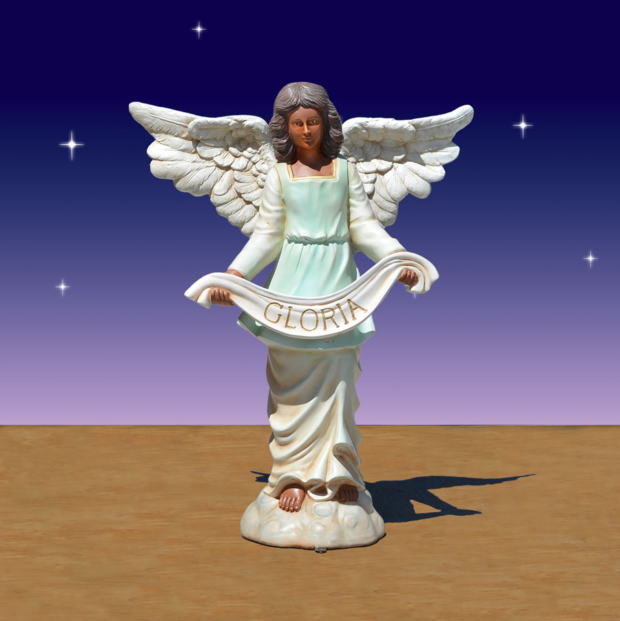 40 inch scale black Angel of Gloria