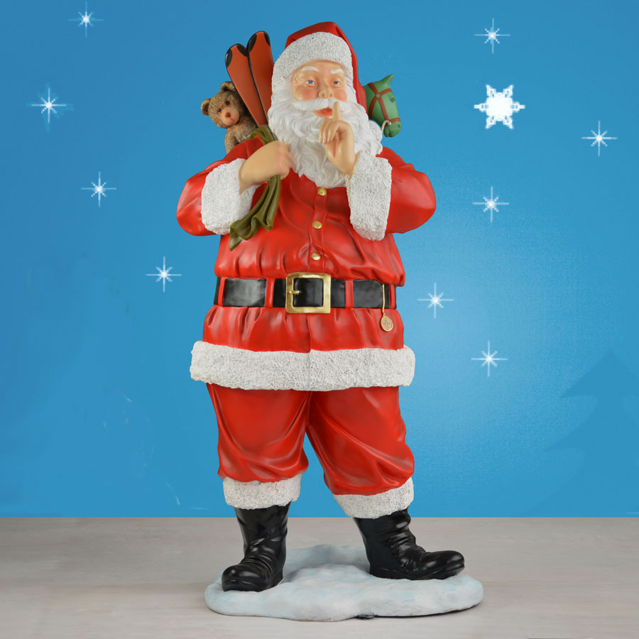 Life size santa outdoor for Outside christmas figures