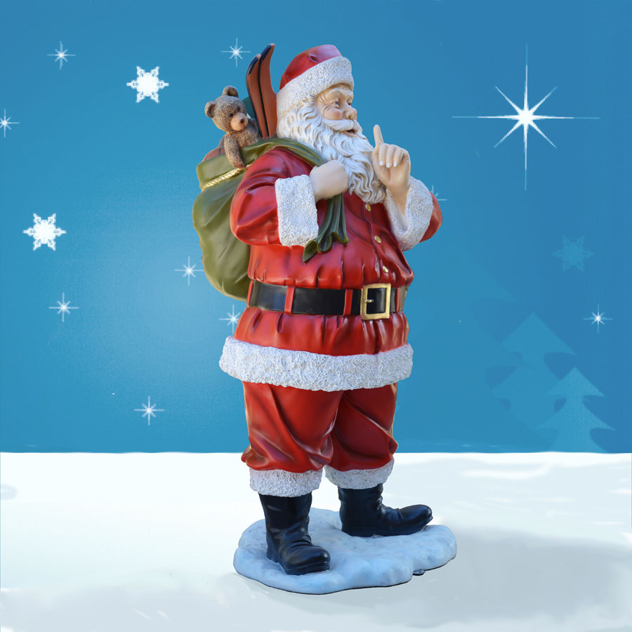 6 foot life sized outdoor santa decoration with toys for Santa decorations