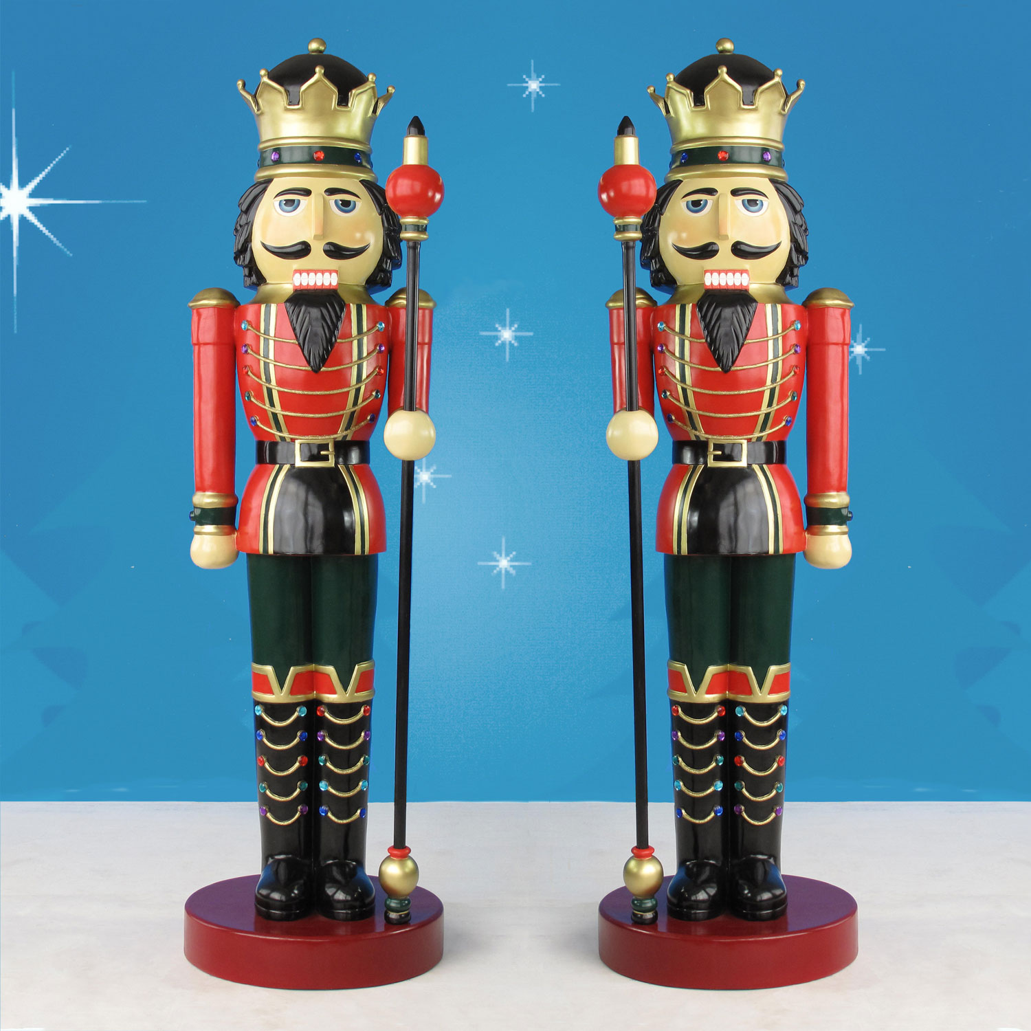 Nutcracker Kings with Scepters