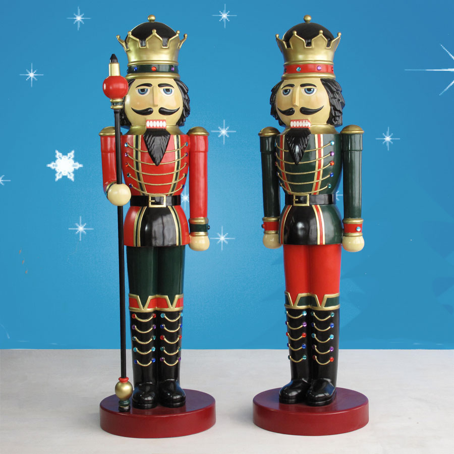 Life Size Nutcracker King and Nutcracker Soldiers
