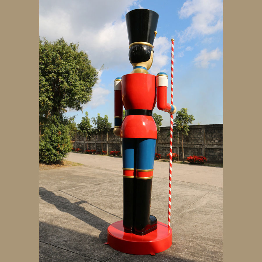 Christmas Toy Soldiers : Giant ft toy soldier christmas decoration w baton