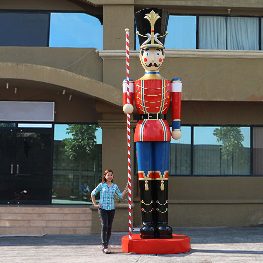 Giant 16-ft. Toy Soldier Christmas Decoration W/ Baton