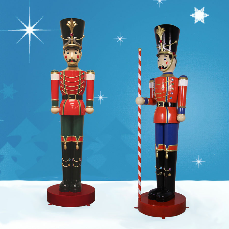 Christmas Toy Soldiers : Set of ft giant toy soldiers christmas night inc