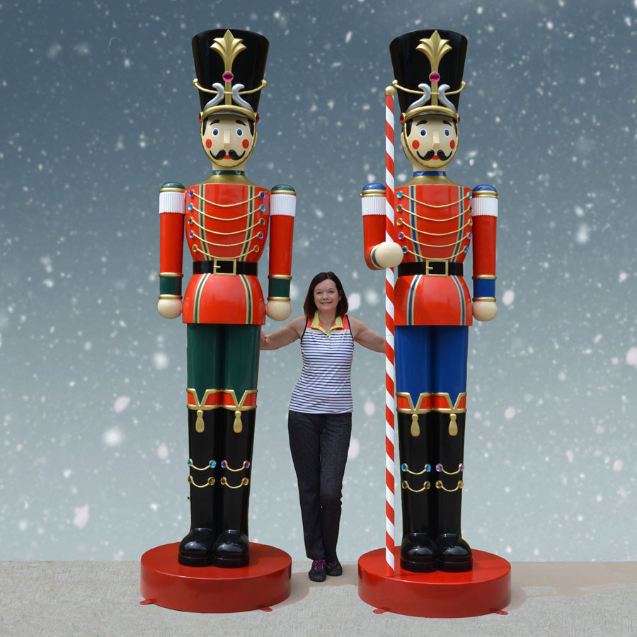 Set Of 10-ft. Giant Toy Soldiers