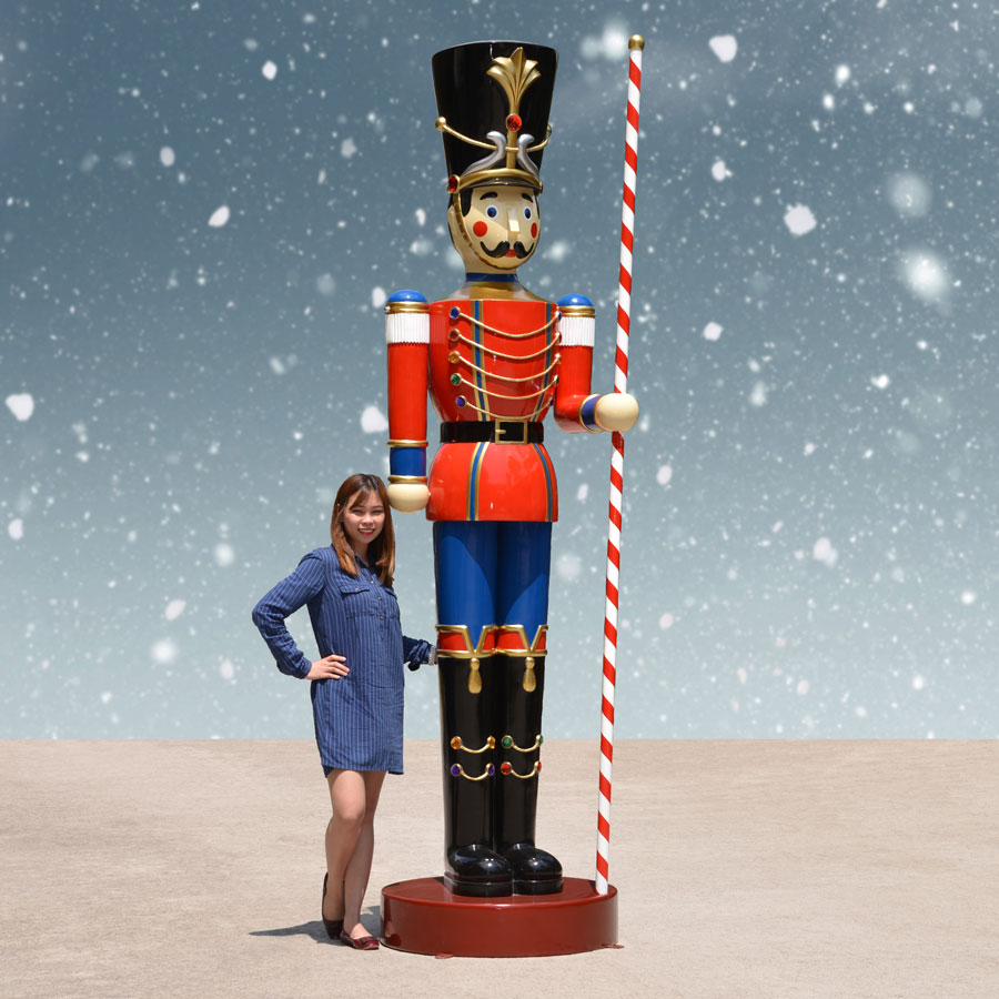 Toy Soldier with Baton in Left Hand