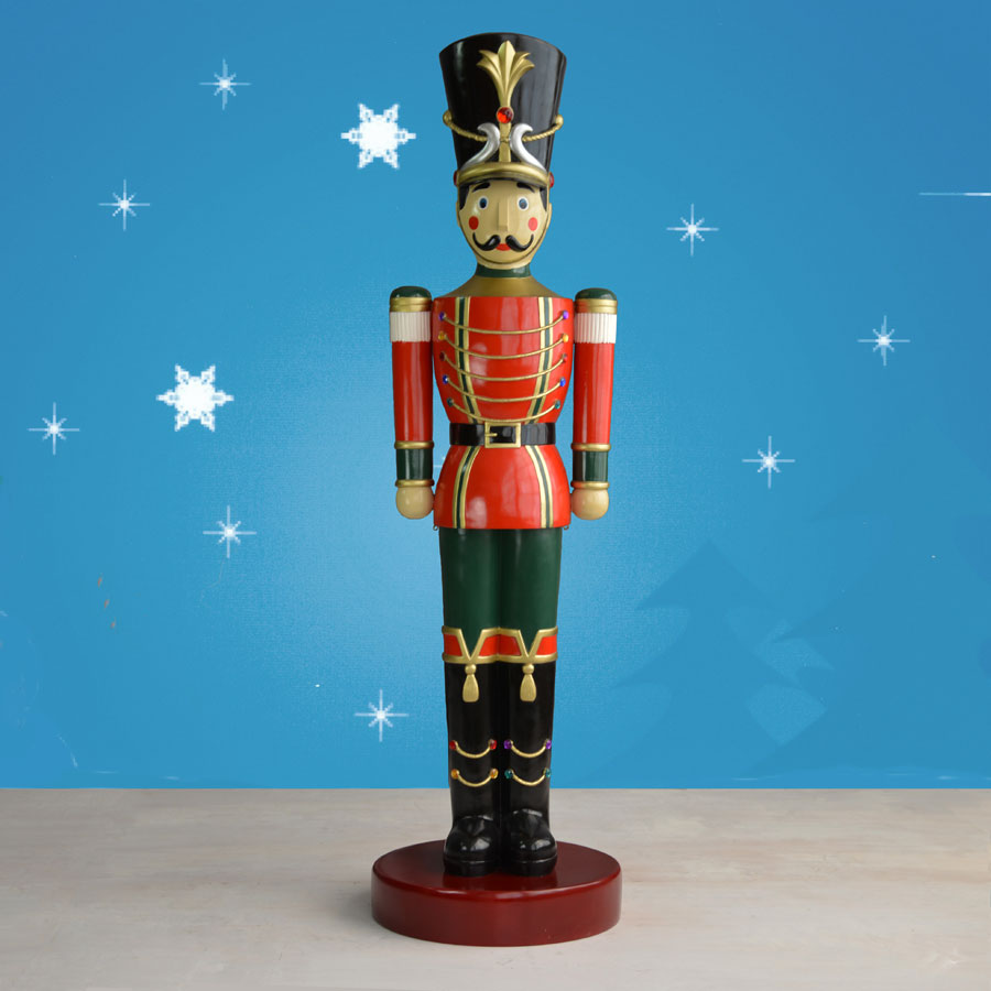 Christmas Toy Soldiers : Ft toy soldier statue with striped baton