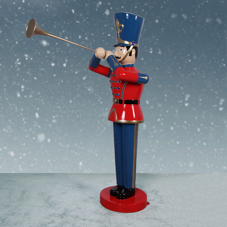 Christmas Toy Soldiers : Heinimex ft toy soldier sculpture with trumpet