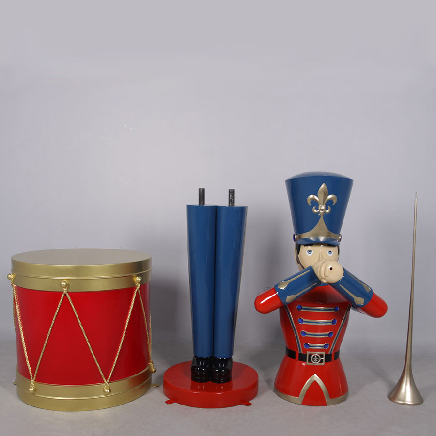 Toy Soldier and Display Drum Assembly