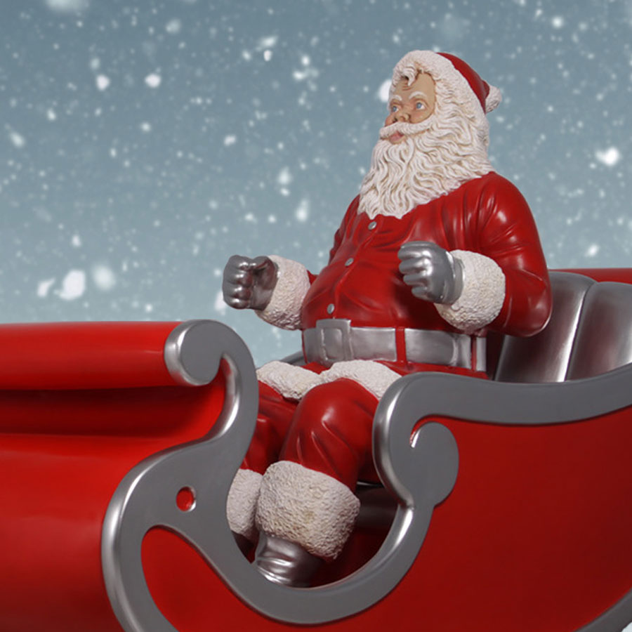 full view of sitting santa