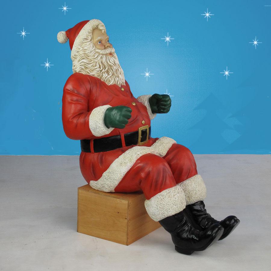Christmas Decorations Life Size Santa: Life-Sized Santa Sleigh & Two Reindeer