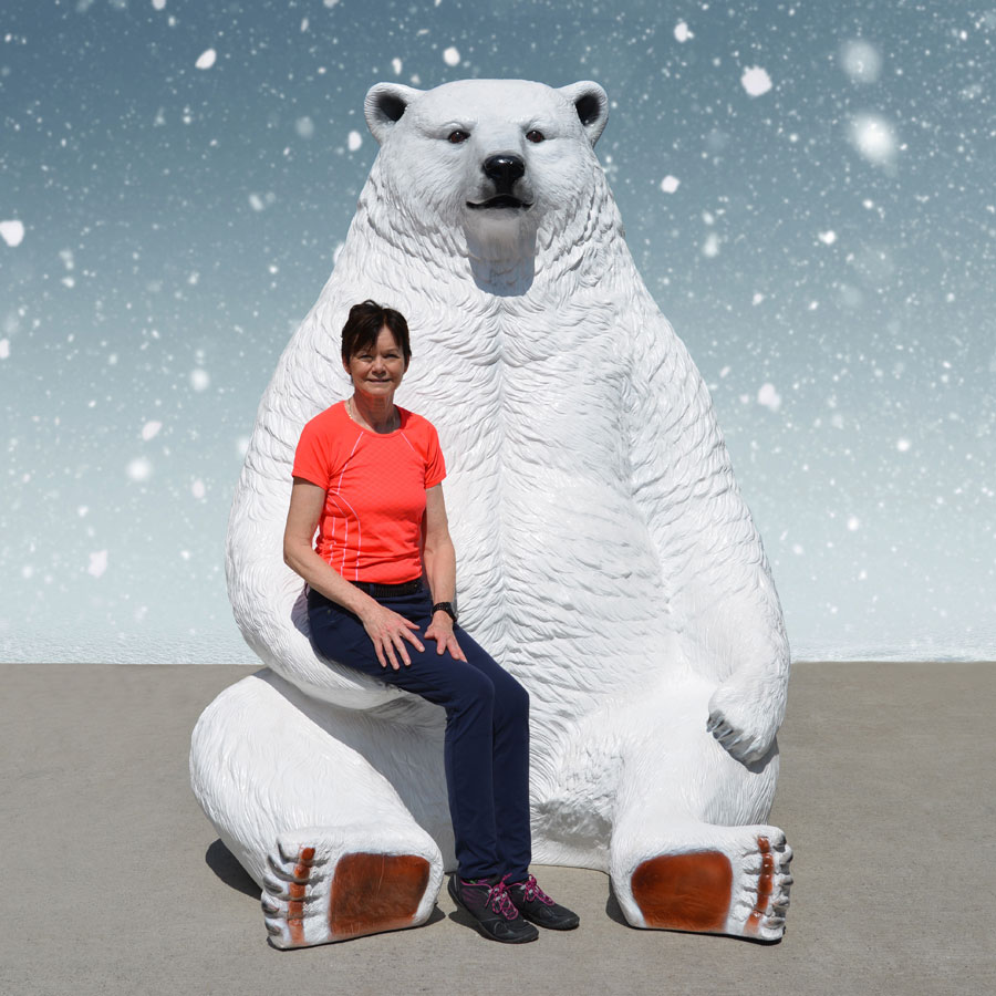 Giant Sitting Polar Bear