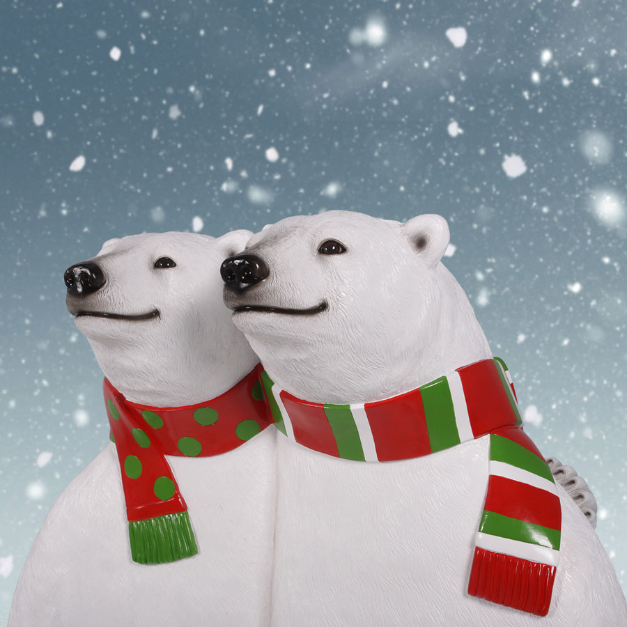 Polar Bear Christmas Bench