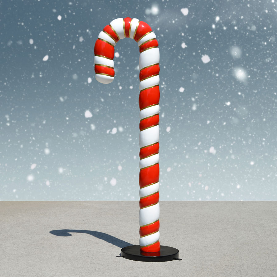 Candy Cane Statue