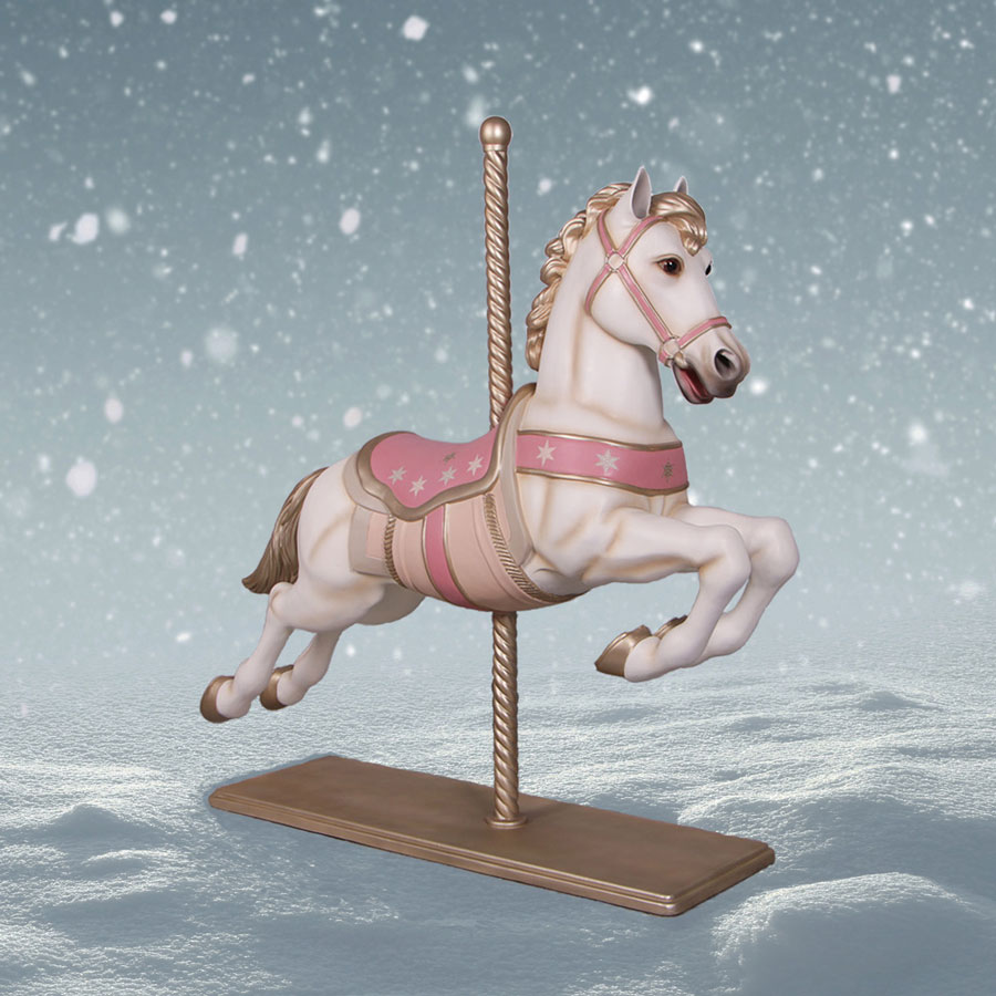 Christmas Horse Pictures.Carousel Horse With Pole 5 Ft High