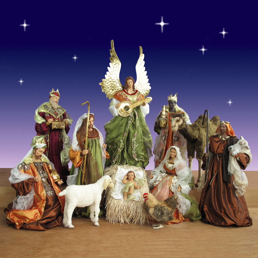 12 Piece Church Nativity Set