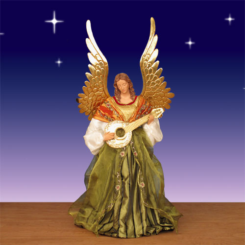 Large Nativty Angel In Resin And Fabric 42 Quot Scale