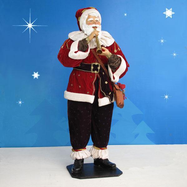 Christmas Decorations Life Size Santa: AlRiver Life-Sized Santa With Horn