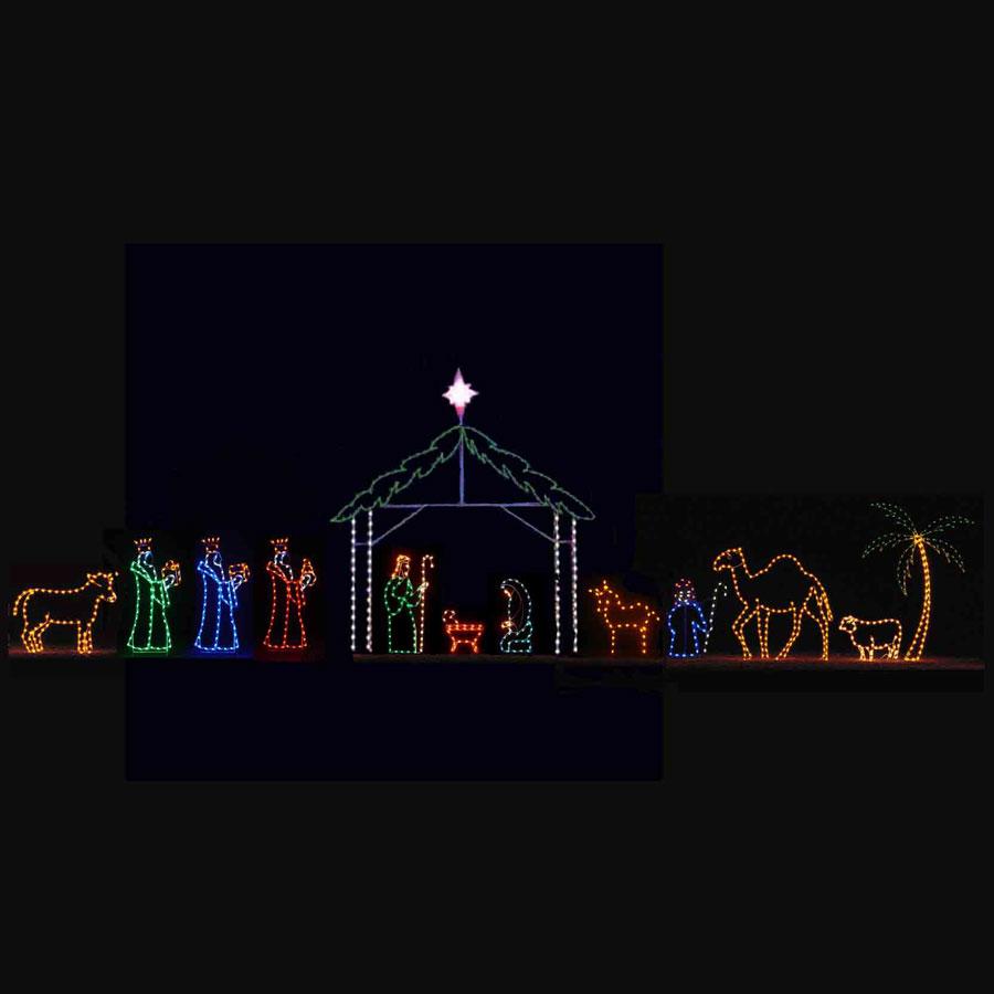 LED Nativity Light Display