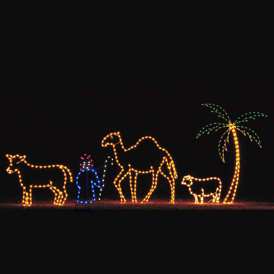 Lighted Animal Set