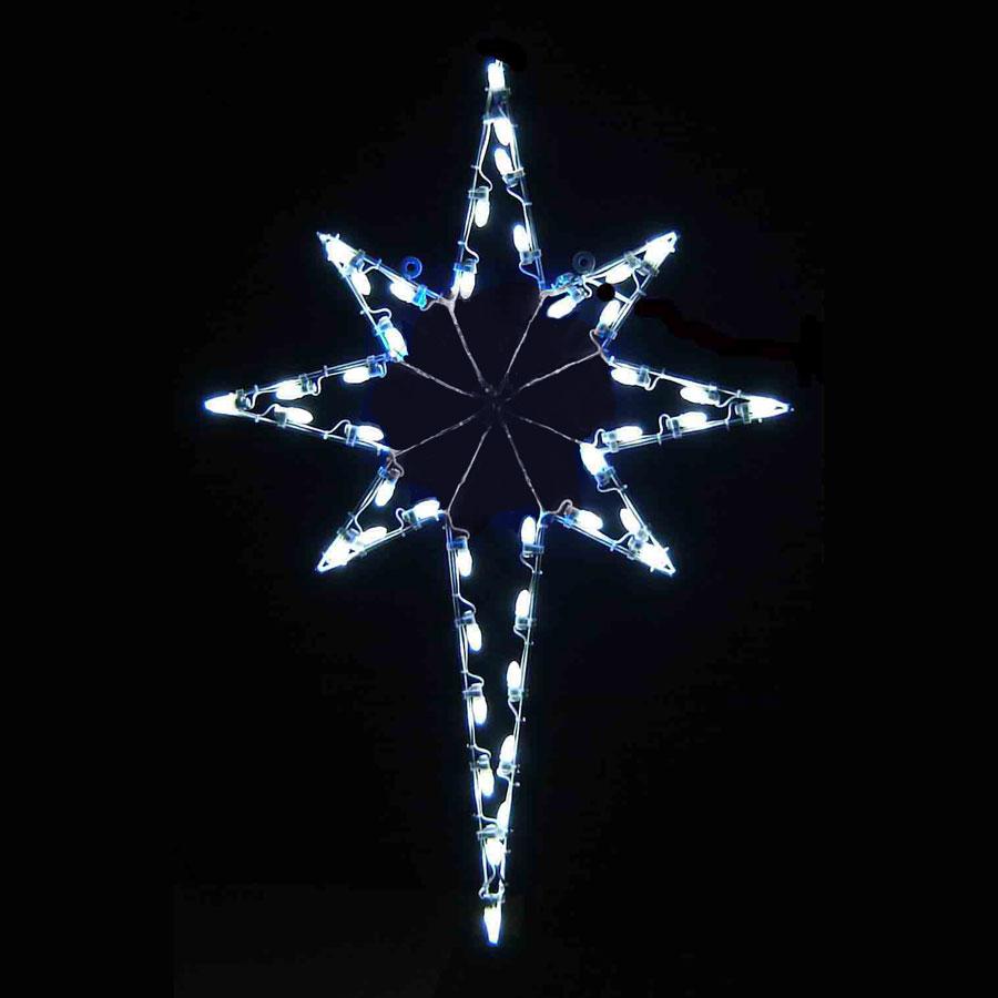 Christmas Decorations Star Of Bethlehem : Led star of bethlehem  white