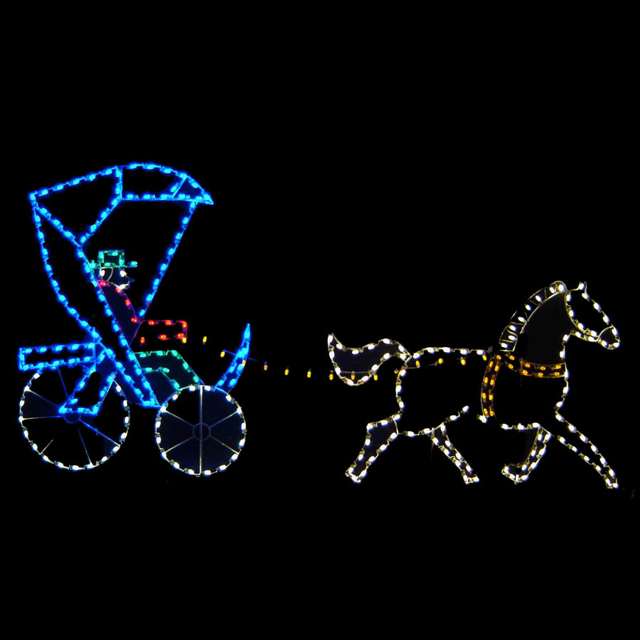 Horse and Buggy Light Display