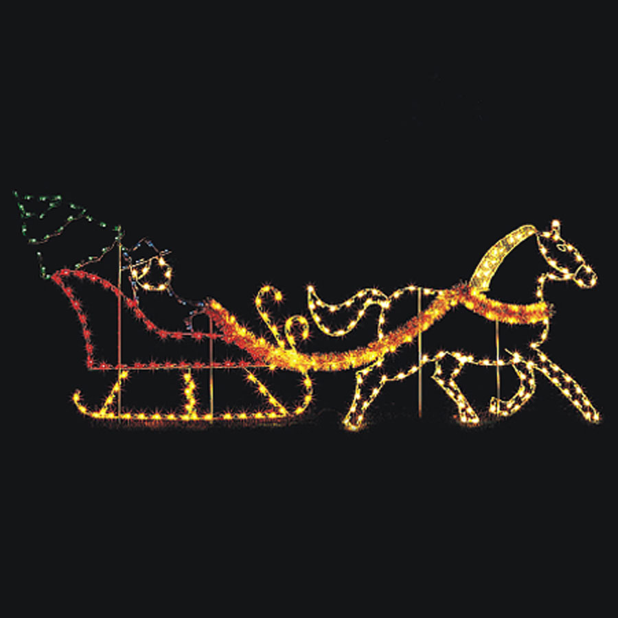 Horse & Sleigh Light Display