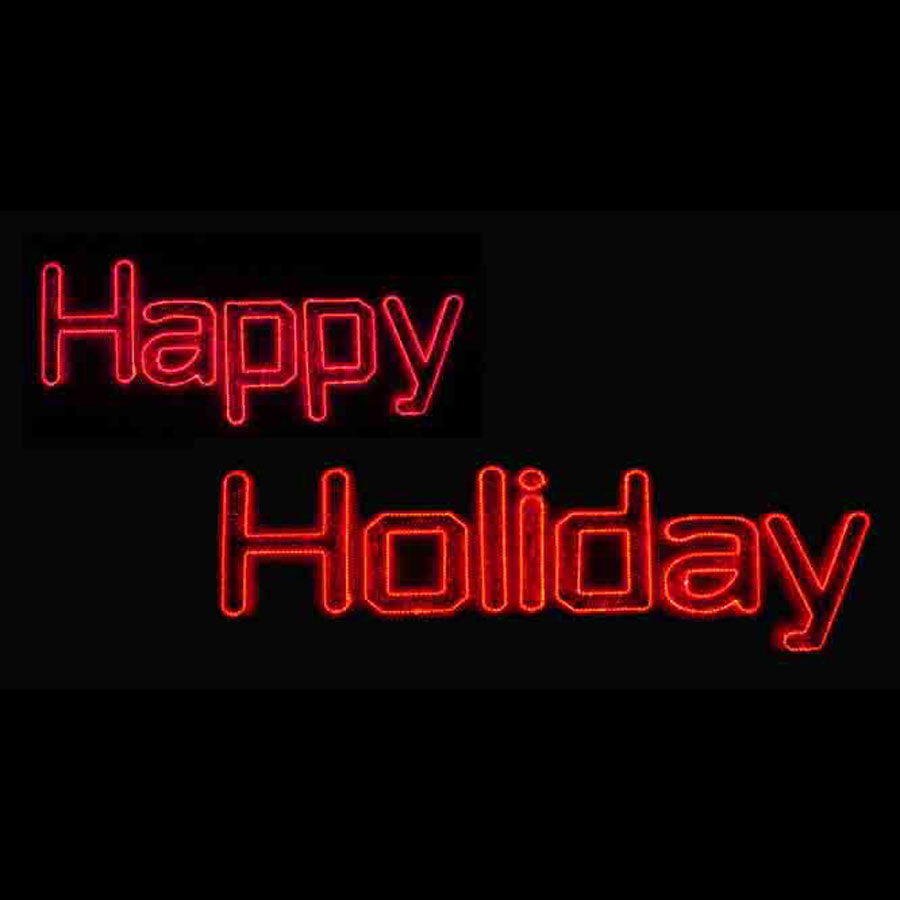 Rope light happy holiday led sign 40 w happy holiday sign rope light c7 led light display 16ft w aloadofball Gallery