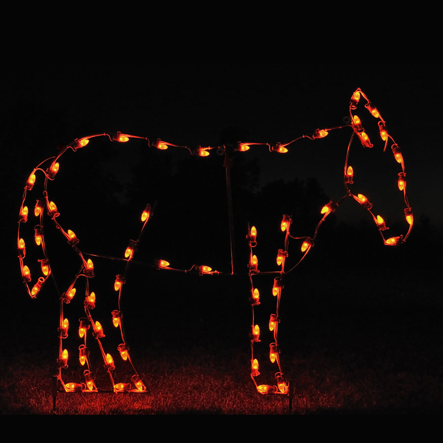 Holiday Lights Donkey