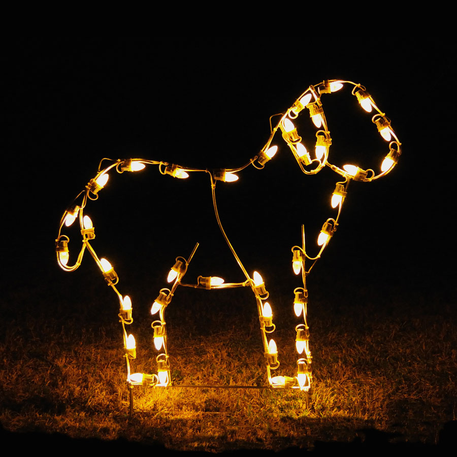 Holiday Lights LED Standing Lamb Light Display - 3u0026#39; W