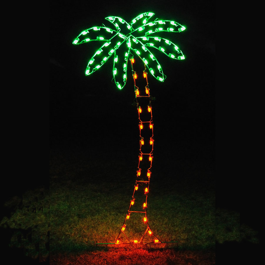 Holiday Lights Palm Tree