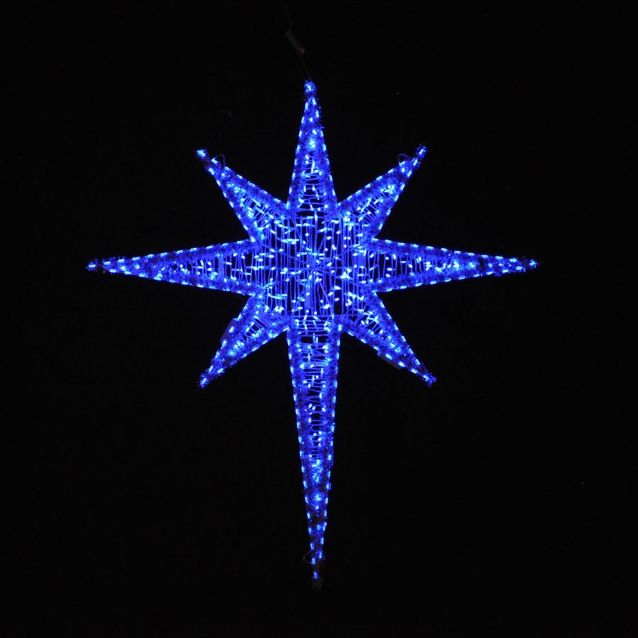 Holiday Lighting Giant Led Star Blue 6 25
