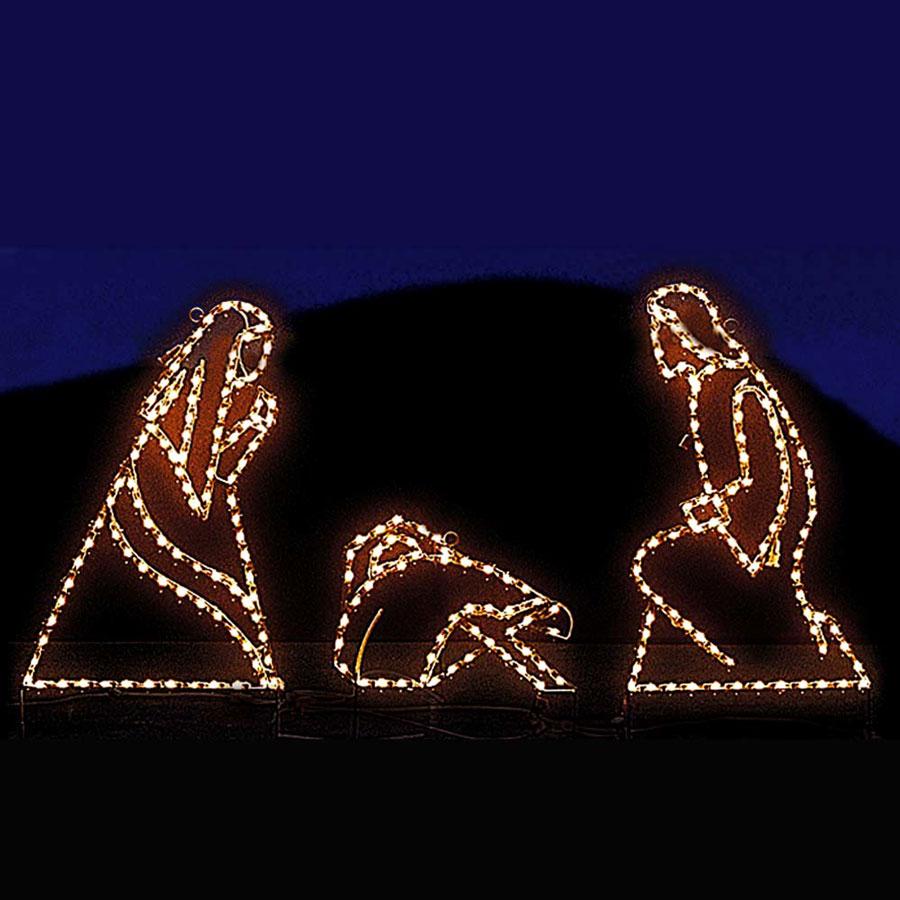 Small nativity mini led light display 24 5 39 10 pc set for Led outdoor xmas decorations
