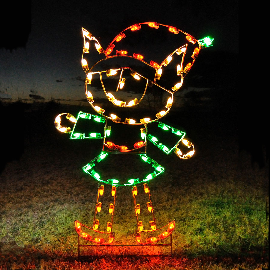 Holiday Lights Elf Girl