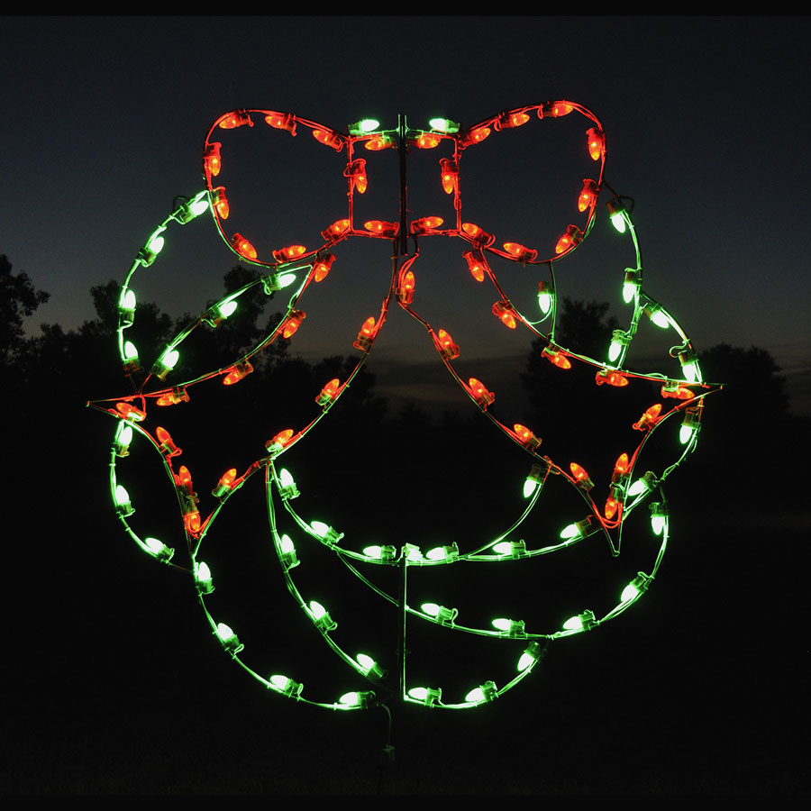 Outdoor Lighted Christmas Wreath