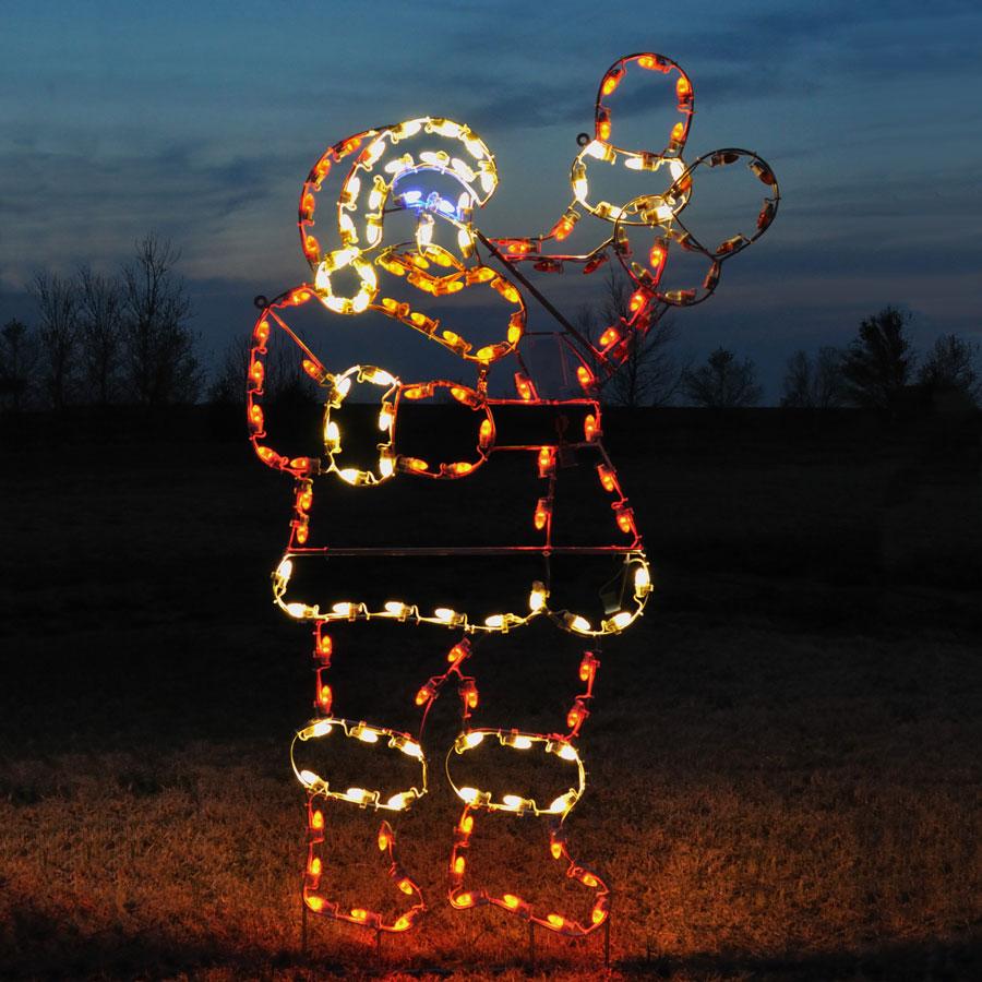 Animated 7 5 Ft Outdoor Waving Santa Light Display