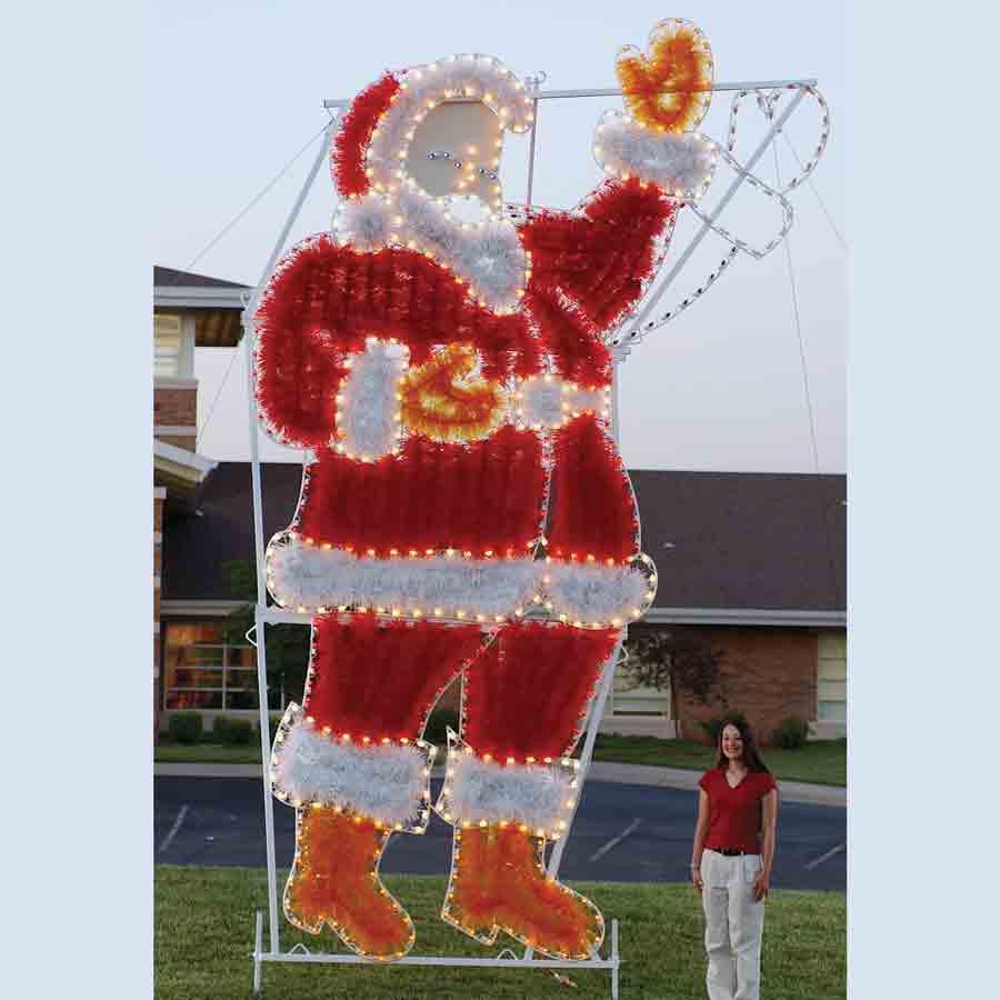 Garland waving santa c led light display ft h