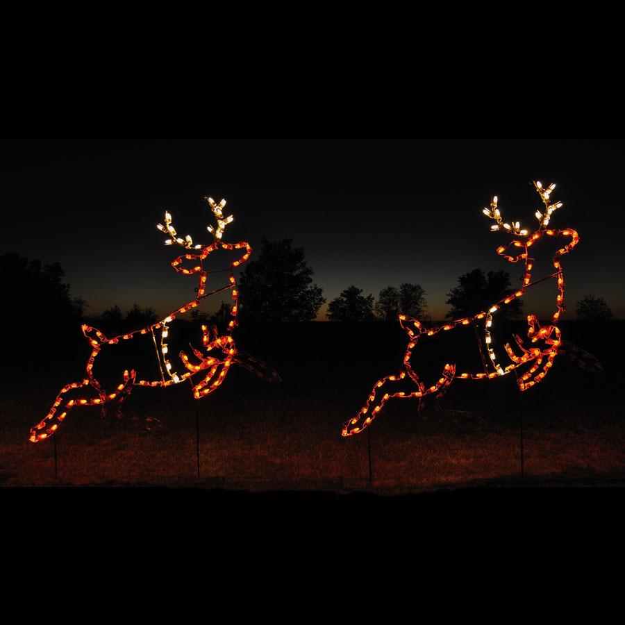 Animated led reindeer pair light display 2 6 2 w