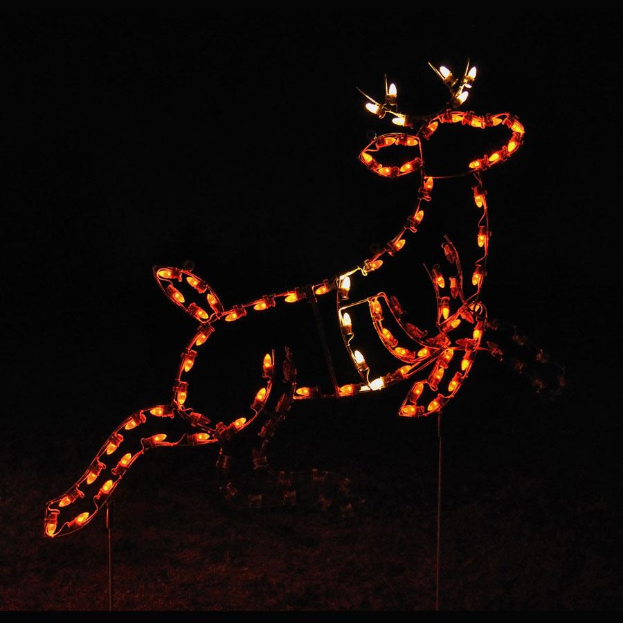 43ec6d7ea4 Home  Animated Lead Reindeer C7 LED Light Display 5.5 ft. W. Holiday Lights  Reindeer