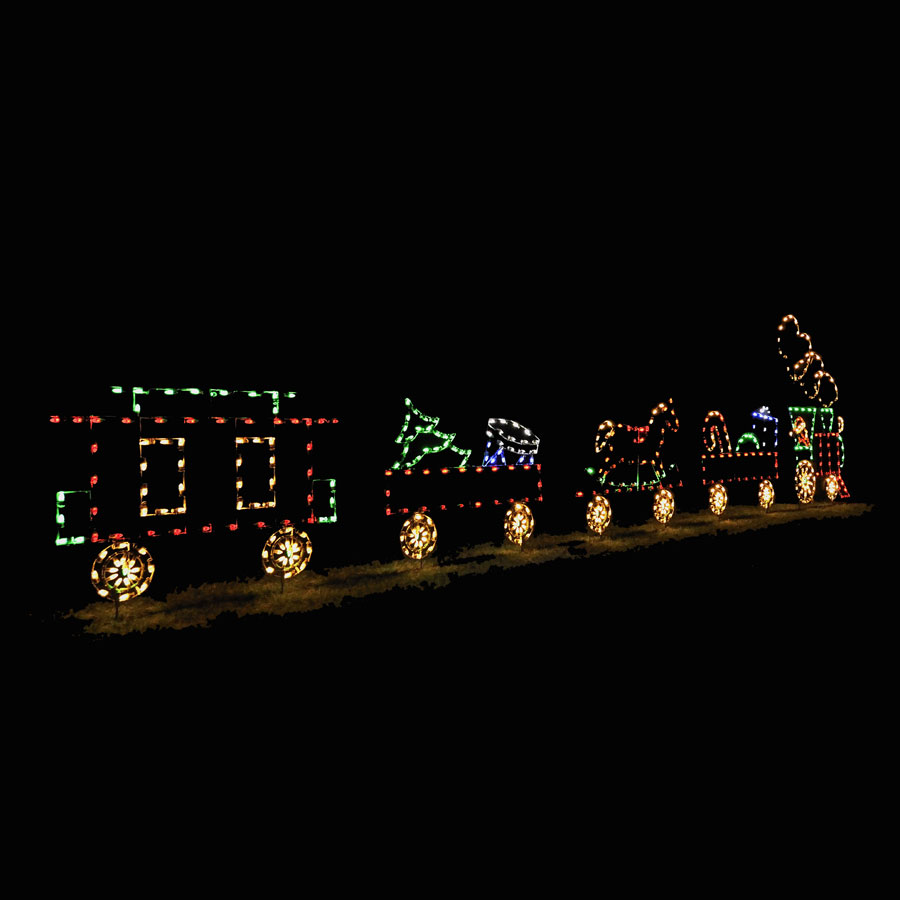 Holiday Lights Train Set with 5 cars