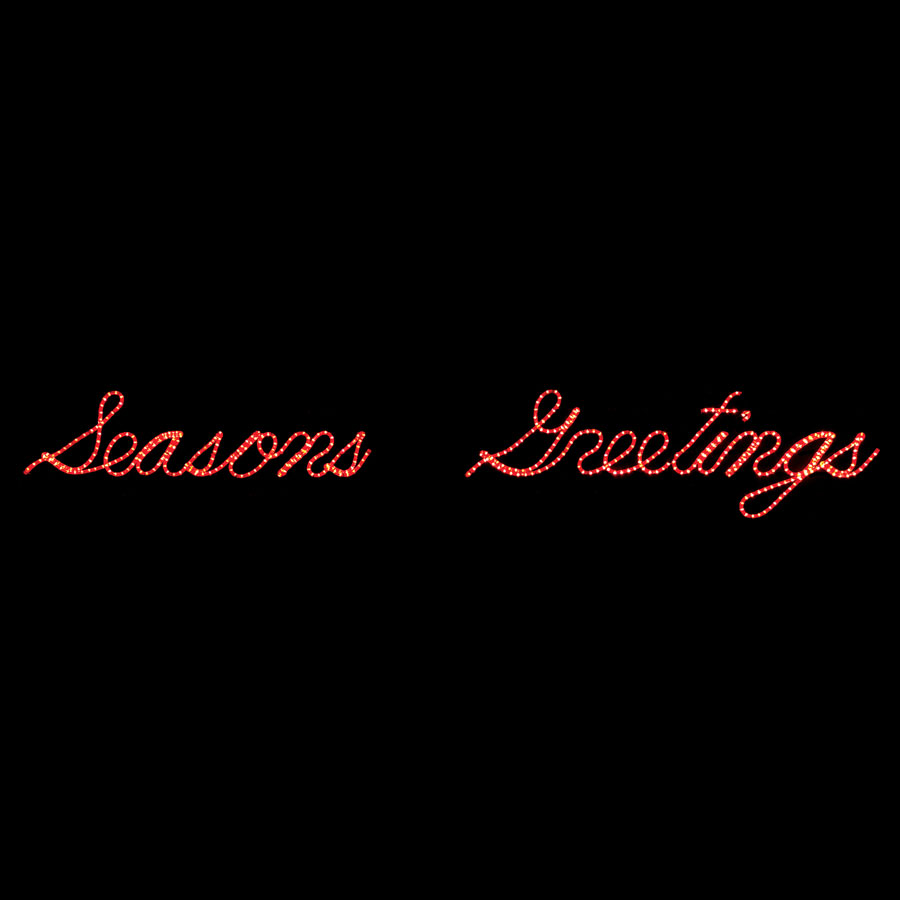 Seasons Greetings Rope Light Sign