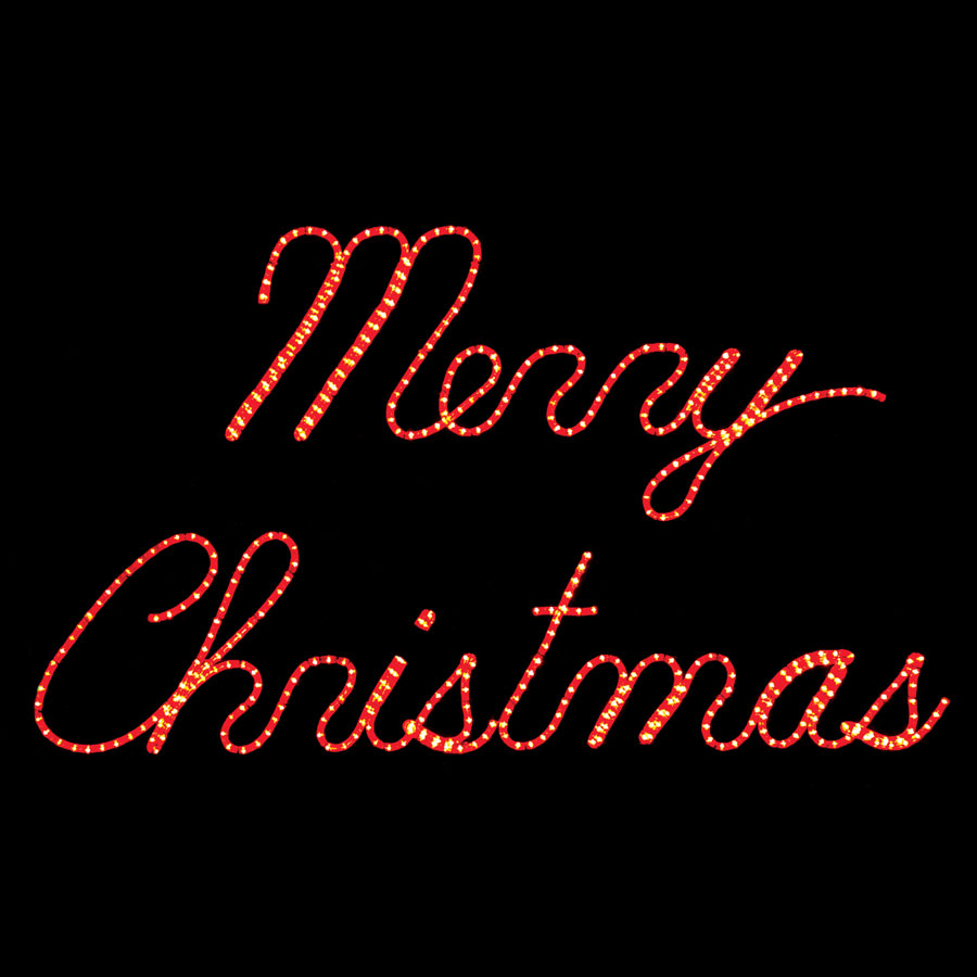 merry christmas rope light sign